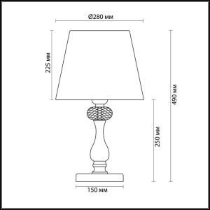 Схема Настольная лампа - 3390/1T  в стиле Классика