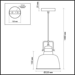 Схема Подвес - 3325/1  в стиле Модерн