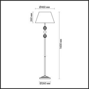 Схема Торшер - 4190/1F  в стиле Классика