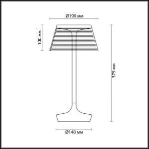 Схема Настольная лампа - 4108/7TL  в стиле Модерн