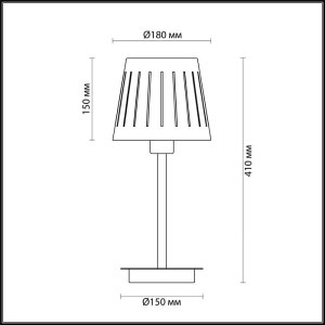 Схема Настольная лампа - 4110/1T  в стиле Модерн