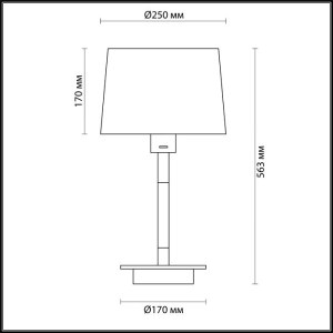 Схема Настольная лампа - 4159/1T  в стиле Модерн