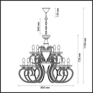 Схема Люстра - 3932/15  в стиле Классика