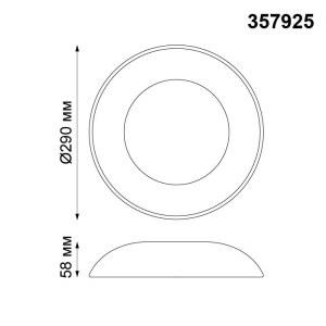 Накладной светодиодный светильник-357925-shema
