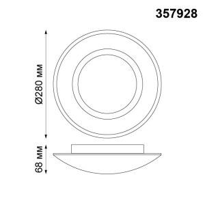 Накладной светодиодный светильник-357928-shema
