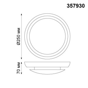 Накладной светодиодный светильник-357930-shema