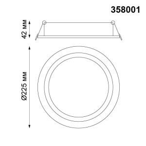 Светильник поворотный светодиодный встраиваемый — 358001 — NOVOTECH 30W