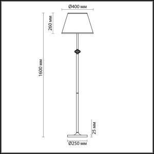 Торшер — 3686/1F — LUMION — Мощность 60W