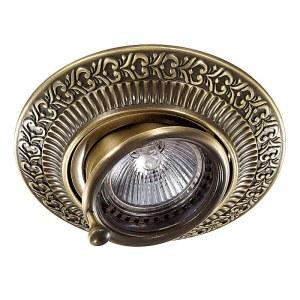 Декоративный встраиваемый поворотный светильник-370015-foto