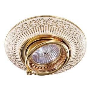 Декоративный встраиваемый поворотный светильник-370016-foto