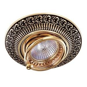 Декоративный встраиваемый поворотный светильник-370017-foto