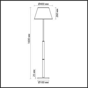 Торшер — 3703/1F — LUMION — Мощность 60W