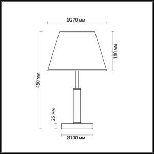 Настольная лампа — 3703/1T — LUMION — Мощность 40W