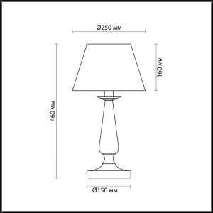Настольная лампа — 3712/1T — LUMION — Мощность 1*60W