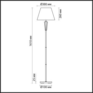Торшер — 3733/1F — LUMION — Мощность 1*60W