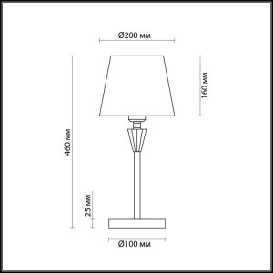 Настольная лампа — 3733/1T — LUMION — Мощность 1*60W