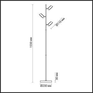 Торшер — 3746/15FL — LUMION — Мощность