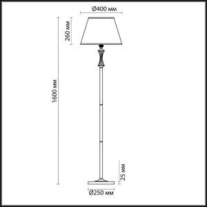 Торшер — 4408/1F — LUMION — Мощность 1*60W