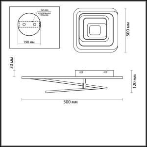 Люстра потолочная — 4426/99CL — LUMION — Мощность 145W