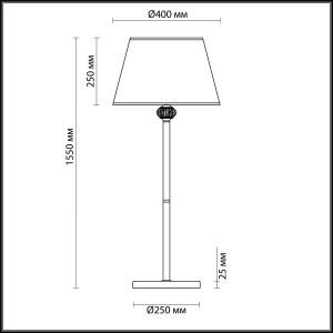 Торшер — 4430/1F — LUMION — Мощность 1*40W