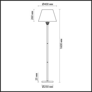 Торшер — 4433/1F — LUMION — Мощность 1*60W