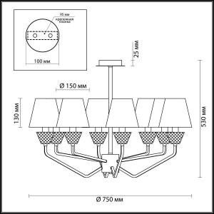 Люстра потолочная — 4433/8C — LUMION — Мощность 8*40W