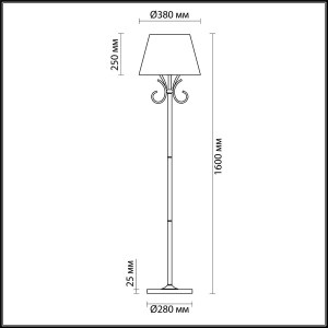 Торшер — 4437/1F — LUMION — Мощность 1*60W
