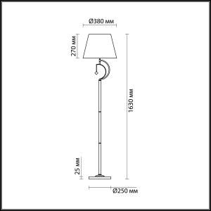 Торшер — 4469/1F — LUMION — Мощность 1*60W