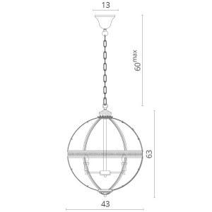 Схема Подвесной светильник 1015/02 SP-4 в стиле модерн