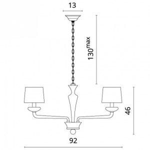Схема Подвесная люстра 1155/04 LM-8 в стиле модерн