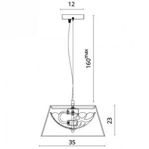 Схема Подвесной светильник 1157/01 SP-2 в стиле модерн