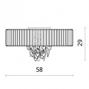 Схема Накладной светильник 1285/02 PL-6 в стиле модерн