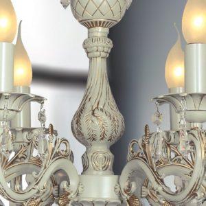 Фото 2 Подвесная люстра 1308-6P в стиле флористика