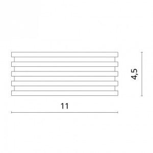 Схема Накладной светильник 1349/04 PL-1 в стиле техно