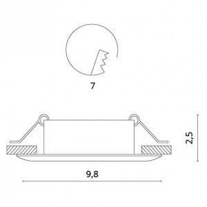 Схема Встраиваемый светильник 1765/02 PL-1 в стиле техно