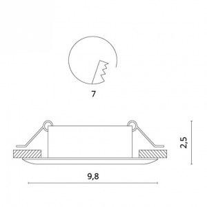 Схема Встраиваемый светильник 1765/03 PL-1 в стиле техно