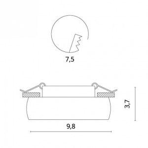 Схема Встраиваемый светильник 1827/04 PL-1 в стиле техно