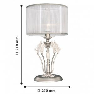 Детальное фото 2 Настольная лампа декоративная 2306-1T в стиле флористика