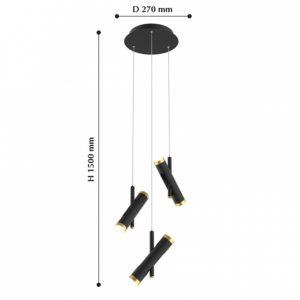 Детальное фото 2 Подвесной светильник 2324-6P в стиле техно