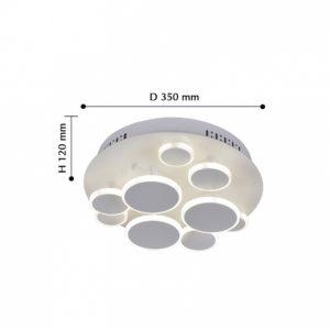 Детальное фото 2 Накладной светильник 2388-9U в стиле модерн