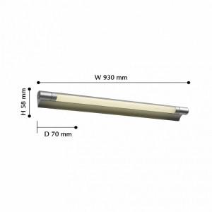 Детальное фото 2 Подсветка для картин 2427-3W в стиле техно