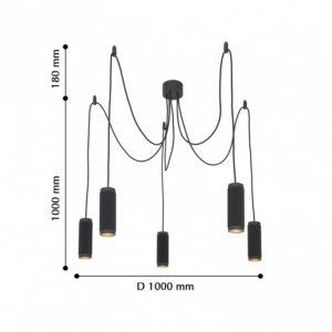Детальное фото 2 Подвесной светильник 2452-5P в стиле техно
