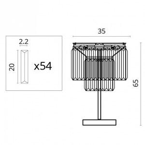 Схема Настольная лампа декоративная 3002/06 TL-3 в стиле модерн