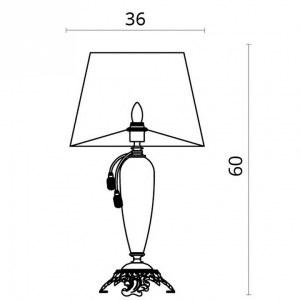 Схема Настольная лампа декоративная 5125/12 TL-1 в стиле классический