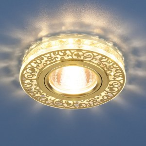 6034 MR16 GD/CL / Светильник встраиваемый золото/прозрачный a029894