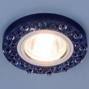 8260 MR16 SP/CH / Светильник встраиваемый сапфир/хром a030597