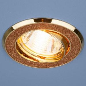 611 MR16  GD / Светильник встраиваемый 611  MR16  GD золотой блеск/золото a032239