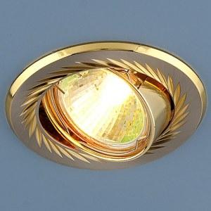 704  CX  MR16 SN/GD / Светильник встраиваемый сатин никель/золото a032258