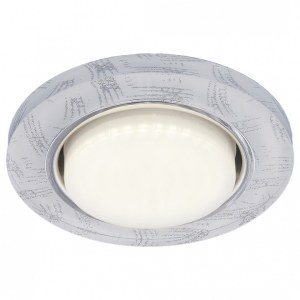 1062 GX53 / Светильник встраиваемый WH/SL белый/серебро a034000