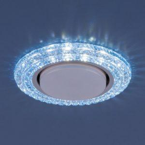 3030 GX53 / Светильник встраиваемый BL синий a035180